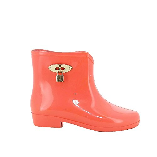 Ideal Shoes, Damen Stiefel & Stiefeletten living coral