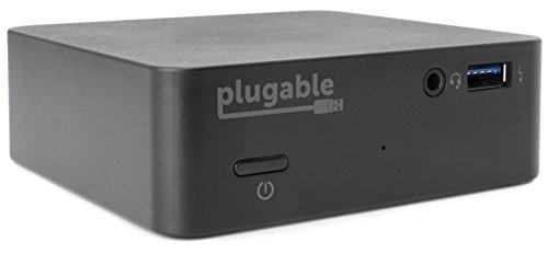 Plugable USB-C Mini Docking Station mit 85 W Ladeleistung für Thunderbolt-3- und USB-C-Mac-Books sowie bestimmte Windows-Systeme