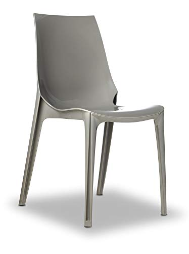 Scab Design Set 4 Vanity Chair Colore Fumè trasparente