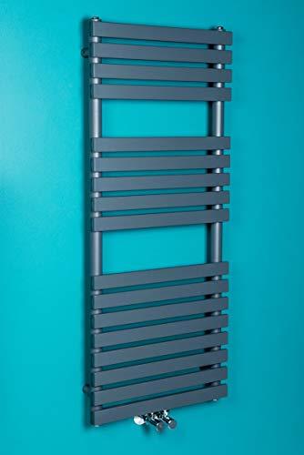 WarmeHaus Designer Handtuchheizkörper Badheizkörper 1200x500mm Grau