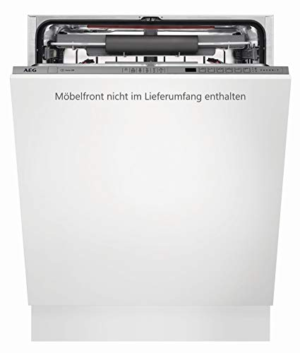 AEG FSE62700P Vollintegrierter-Geschirrspüler / 60cm / AirDry - perfekte Trocknungsergebnisse / energiesparend / Besteckschublade / Glasprogramm / Beladungserkennung / Intensivprogramm / Kurzprogramm