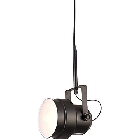 Interfan 51180 - Lámpara colgante de plafón, foco de color negro