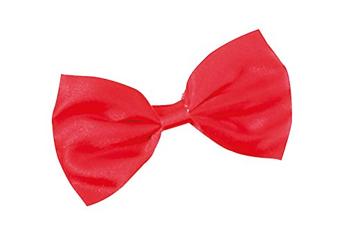 w Tie Small Black Red White Budget 1920s Fancy Dress Costume Accessory (Red) ()