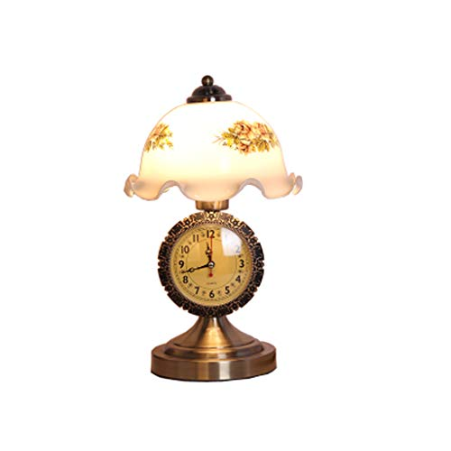 Europäische Antike Schlafzimmer-Nachttischlampe, Amerikanische Nostalgische Entwurfs-Dimmbare Luxusuhr-Tischlampe, Wohnzimmer-Studien-Schlafzimmer-Vorzügliche Und Schöne Dekorative Beleuchtungs