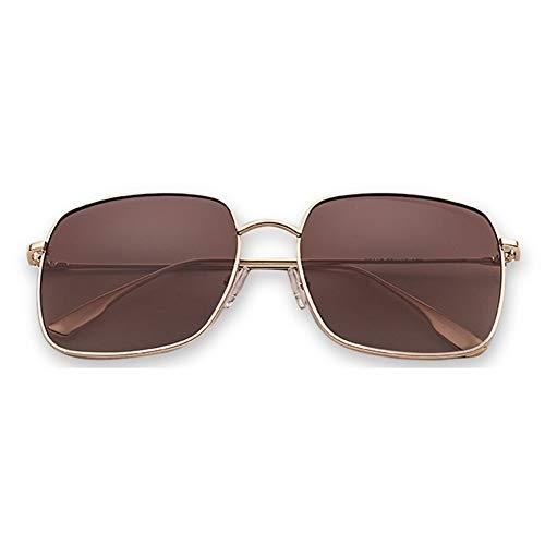 WULE-Sunglasses Unisex New Brown Big Box Square Flugzeug Spiegel Sonnenbrille Weibliche Sonnenbrille Männer Driving Special Mit Polarisierten Gläsern