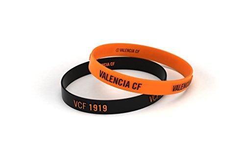 Valencia Club de Fútbol Pulsera Relieve Naranja y Negra Junior para Mujer y Niño   Pulsera Valencia de Silicona   Apoya al Valencia CF con un Producto Oficial   VCF