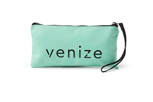 VENIZE Toy-Bag, Tasche mit Reißverschluss für Sexspielzeug, Aufbewahrungsbeutel für hygienischen Umgang mit Liebesspielzeug, Dessous und Bondage-Zubehör (mint)