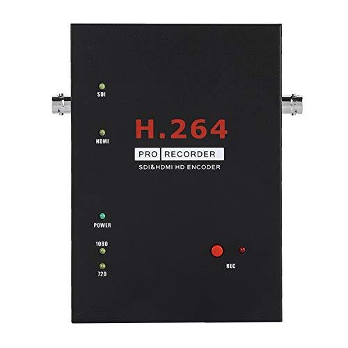 ASHATA HD Game Capture, HDMI/SDI 1080P HD Game Capture Video Capture Box,Multifunktion HD Videoaufnahme Recorder Aufnahmekarte Capture Box mit Fernbedienung EU-Stecker(Schwarz) Video-capture-box