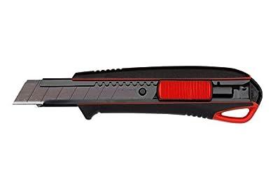 2K Cuttermesser inkl. 3 Abbrechklingen 18mm Abbrechklinge Teppichmesser Universalmesser Universalmesser mit extra scharfen Stahlklingen und klingen Halter Bayram®