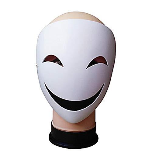 WHFDRHWSJMJ Halloween Maske LED Light Horror Maske Latex Cookie Anime Maske Halloween Requisiten Cartoon Cosplay Weiß Harz Cosplay Zubehör Halloween Maskerade Halloween Kostüme, A