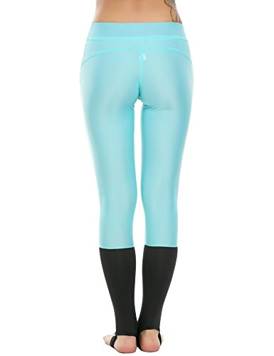 Ekouaer - Leggings sportivi -  donna Sky Blue Black