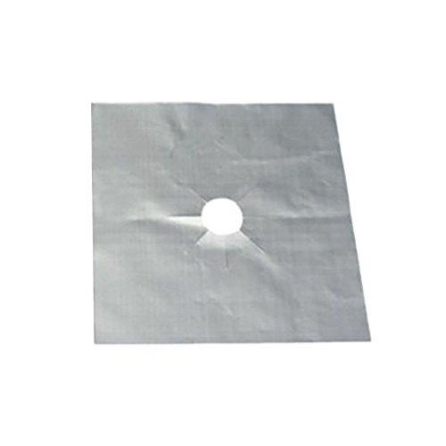 Demino 4PCS Cuisinière à gaz protecteurs Couverture du brûleur Anti-adhésif réutilisable Haut HOB Stovetop Liners au Gaz protecteurs Pad