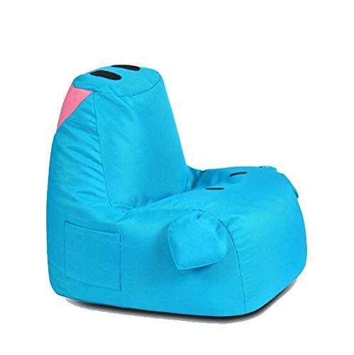 HongTeng Schwein-Form-kleine Faule Couch mehrfarbiges Starkes Kissen-Schlafzimmer-Wohnzimmer-Balkon-Tatami-Gewebe-einzelner Stuhl 55 × 65cm (Color : Blue, Size : A) (Wohnzimmer-gewebe-stühle)