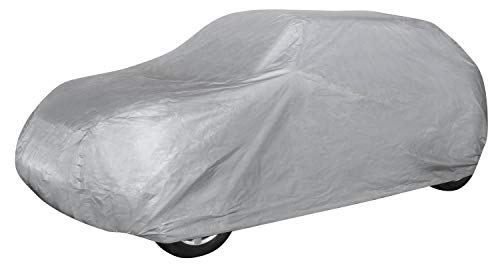 Walser 31019 Autoabdeckplane SUV Größe S hellgrau, wasserdichte Ganzgarage, Staubdicht mit UV Schutz
