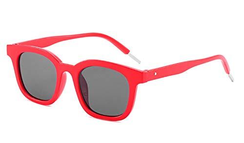 Epinki Damen Polarisierte Sonnenbrille Sonnenbrille UV400 Schutz Retro Brille | Vollrand | für Outdoor Sport, Reise - Rot Rahmen Grau Linse