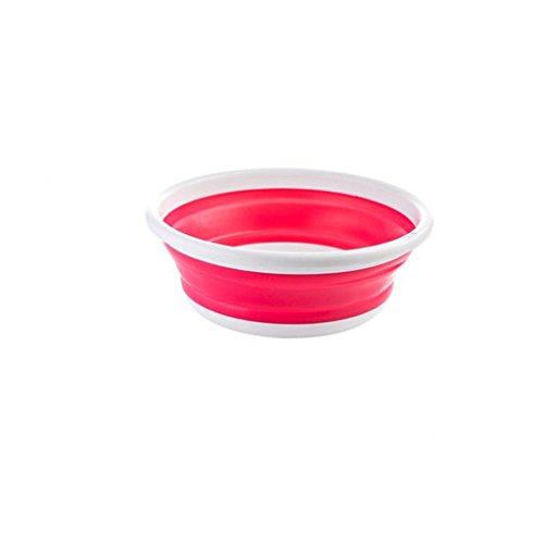 Klappbecken Dicke Outdoor Klappbecken Kreative Zusammenklappbare Tragbare Reise Waschbecken Waschbecken ( Color : Red ) -
