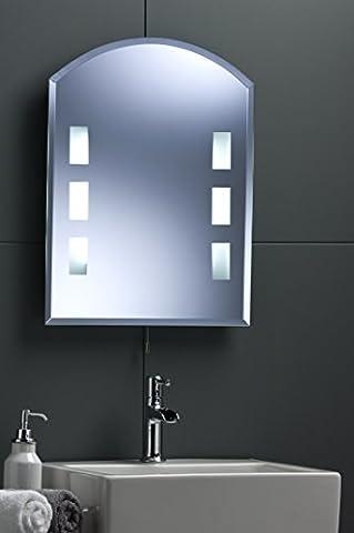Moderne de salle de bain Miroir mural ~ Illuminated Arcade arrière à LED 60cm x450cm 2035avec lumières Livraison gratuite/Retours gratuits