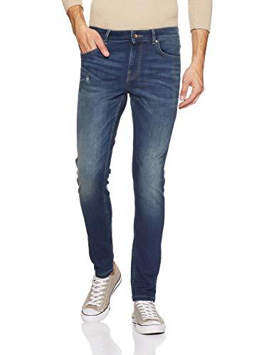 Amazon Brand - Symbol Men's Skinny Fit Jeans (AV-SK-13!_Dark Blue!_30W x 31L)