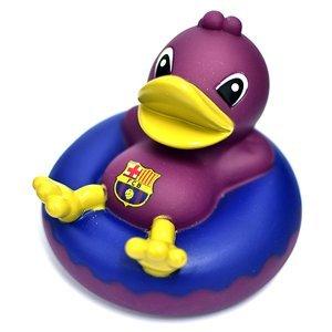 Canard de Bain Bouée Equipe Officielle de Football Caoutchouc (Pluseurs équipes au choix) - En boitier officiel de Présentation - Barcelona, Caoutchouc