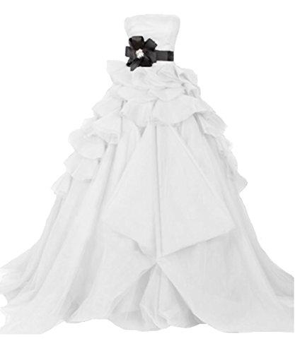 O.D.W A-Linie Frauen Mehrfarbig Vintage Brautkleid Lange Formales Kleider Hochzeitskleider Gotisch...