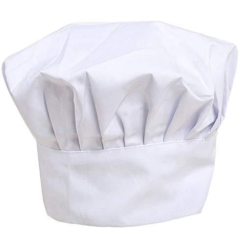 Linyuo Justierbare elastische Küche, die Chef-Hut kocht Dauerhafte Polybaumwollpilz-Unisex Kitchener-Chef-Kappe für Gebäck-Küche, die Chef-Arbeiten kocht (Color : W) (Kartoffel Mann Kostüm)