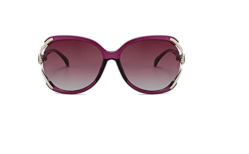 PPOEEWF Polarisierte Sonnenbrille, Elegante europäische und amerikanische Sonnenbrille, Damen-Sonnenbrille mit großem Gestell @ A1