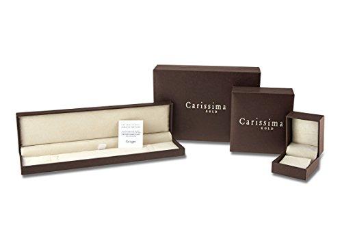 Carissima Gold Collier avec Pendentif 18carats (750/1000) Or Blanc Femme Jaune