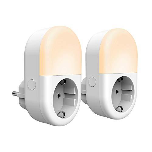 Panamalar smart Steckdose mit Nachtlicht, wifi Nachtlicht steckdose Fernbedienung/Timer Funktion/Stromverbrauch messen, kompatibel mit Alexa/Google Home,wlan steckdose Handy gesteuert