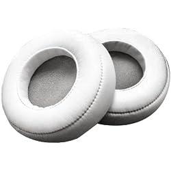 WEWOM 2 Coussinets de Remplacement pour Casques Beat s Mixr, Blanc