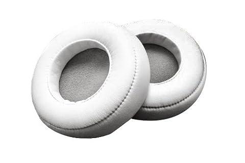 WEWOM 2 coussinets de remplacement pour casques Beat s Pro White & Detox, blanc