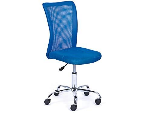 Links 99803154 Schreibtischstuhl für Kinder höhenverstellbar, Metallfuß Mesh PU, 43 x 56 x 88-98 cm, blau