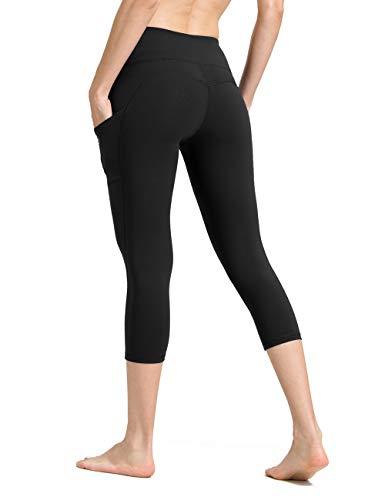 ALONG FIT Sport Capri Leggings mit Taschen Damen Sporthose Yogahose Fitnesshose Yoga Leggings für Damen -
