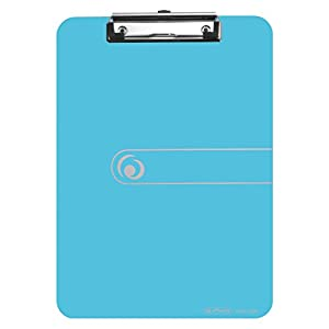 Herlitz 10842409 Clipboard A4 Kraft Paper Cover with Clip Mechanism and Hanging Hole, FSC Mix. Assorted Colours. Light Blue