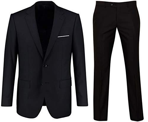Keskin Anzug Herren Anzug Schwarz Business Slim Fit (60, - Schwarze Anzug Kostüm