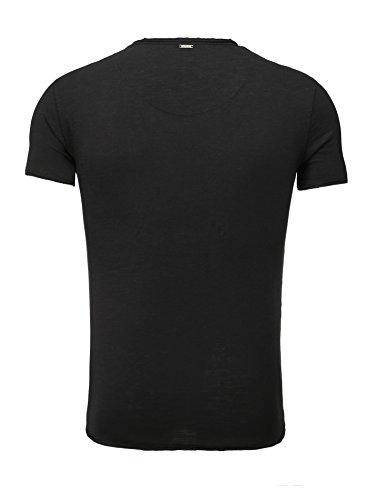 Key Largo Herren T-Shirt WATER Einfarbig Basic Kombinierbar Schwarz