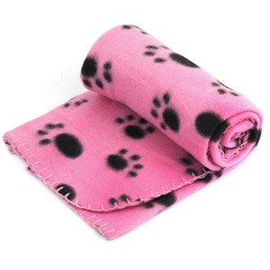 Couverture douce pour chiot ou chaton Pinzhi, motif empreintes de pattes