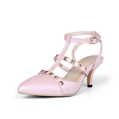 CH&TOU Da donnaFormale-A punta-A stiletto-Finta pelle-Nero / Rosa / Bianco Pink