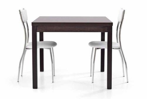 L'Aquila Design Arredamenti TABLES&CHAIRS tavolo da pranzo grigio legno rovere quadrato allungabile 567 90x90x76