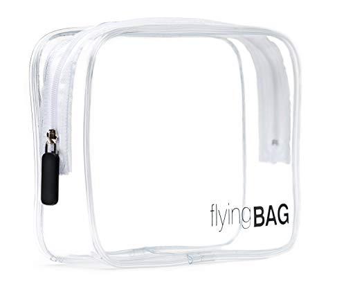 premaros flyingBAG Transparenter Kulturbeutel, Kosmetiktasche für Koffer im Handgepäck, Kulturtasche zum Transport von Flüssigkeiten im Handgepäck