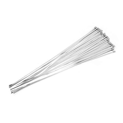 100 stücke 4,6 * 450mm Edelstahl Kabelbinder Metall Selbstsichernde Kabelbinder Strap Heavy Duty für Extreme Temperatur Auspuff Locking Zip Kabelbinder -