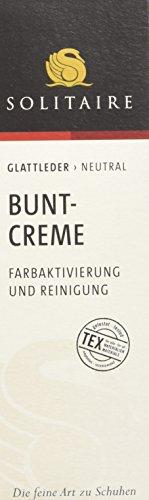 Solitaire Bunt Crème - Farbaktivierung und Reinigung für alle farbigen Glatt- und Lackleder, 75 ml