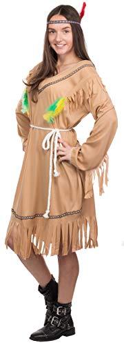 Brandsseller Damen Kostüm Verkleidung - 3-Teiliges-Set - Indianer - ()