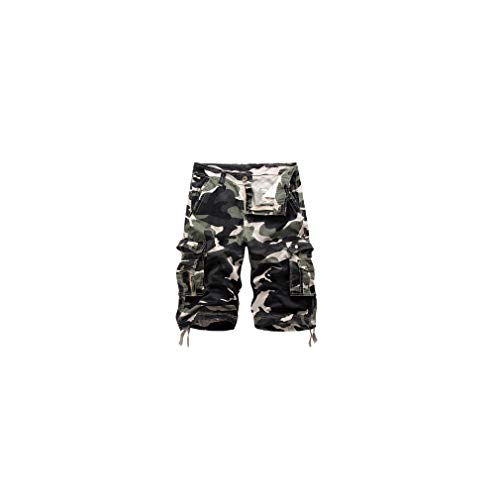 aoliaoyudonggha 2019 Military Camo Cargo Camouflage Multi-Pocket Homme Army Casual Shorts Bermudas Plus Size
