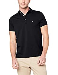 Tommy Hilfiger Herren CORE HILFIGER SLIM POLO Poloshirt, Schwarz (Flag Black 060), Medium