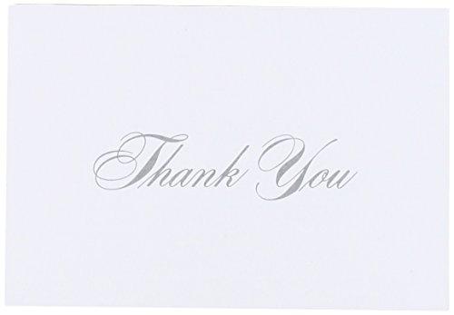 Masterpiece Studios 10625 Silber Danke-Packung mit 48 Karten 48 Umschl-ge