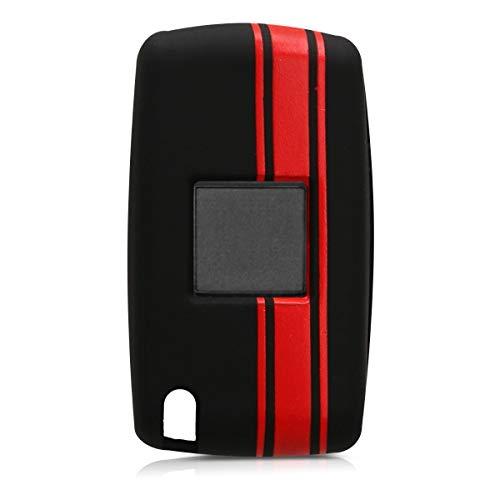 de kwmobile Funda para Llave de 2 Botones para Coche Mazda Suave Carcasa Protectora Silicona - Case de Mando de Auto con dise/ño de Rally