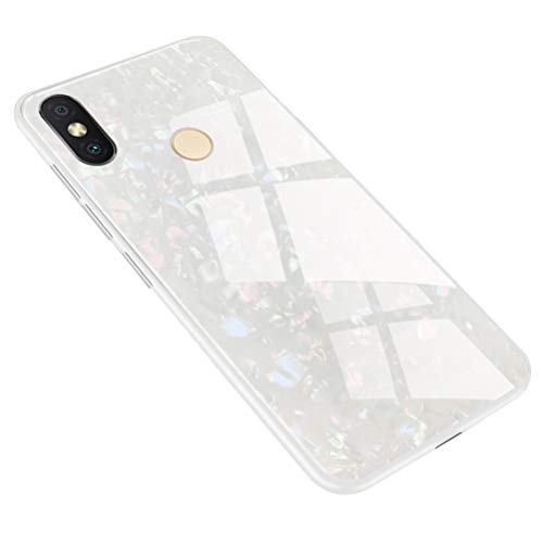 Mikikit Funda para Xiaomi Redmi S2, Caja Suave TPU Transparente, Barniz en Relieve Pintado a Prueba de Choques de Cristal del Teléfono para Xiaomi Redmi S2 (Blanco)