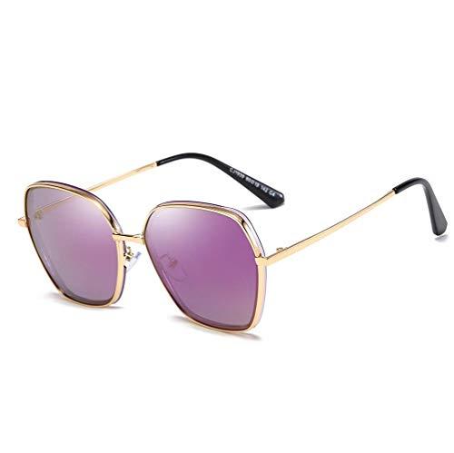WYJW Herren \u0026 Damen XL polarisierte Sonnenbrille, Mode Vintage Metallrahmen Brillen für - Outdoor - Bike - Fahren - Angeln - 100% UV-Schutz