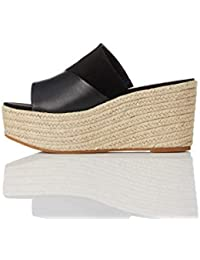 find. Wedge Mule Espadrille, Sandales Bout ouvert femme