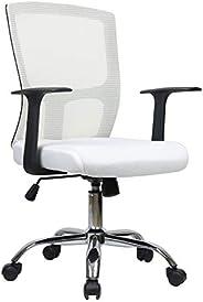 كرسي مكتب شبك لون ابيض والظهر وبيج